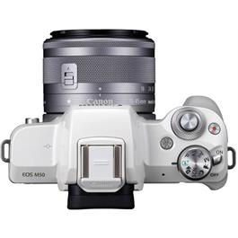 Canon EOS M50 Body With EF-M 15-45mm IS STM Lens Kit - White Thumbnail Image 6